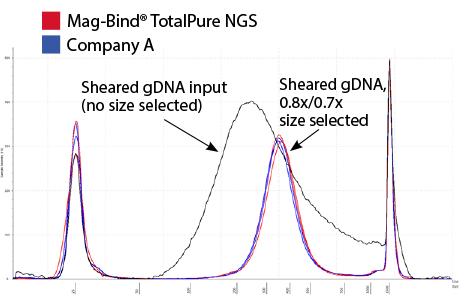 PCR Clean Up and Beads Size Selection - Mag-Bind® TotalPure NGS - Figure 1