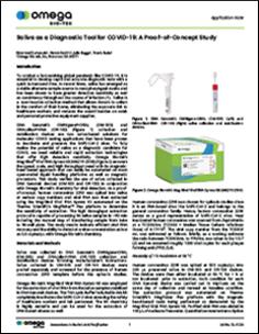 Viral RNA Extraction Protocol - Mag-Bind® Viral RNA Xpress Kit - Application Note Saliva as a Diagnostic Tool