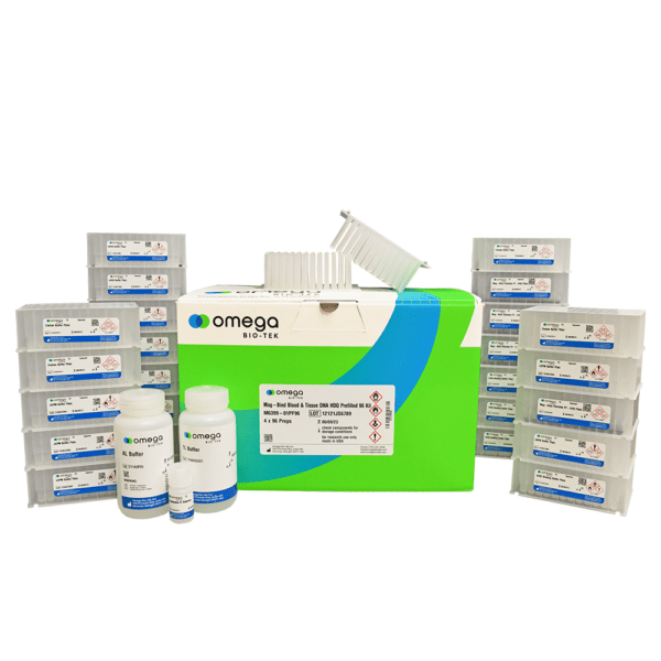 Tissue & Blood DNA Extraction - Mag-Bind® Blood & Tissue DNA HDQ Prefilled 96 Kit - Product Photo